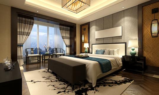Styles「Chinese Style Bedroom Interior」:スマホ壁紙(7)