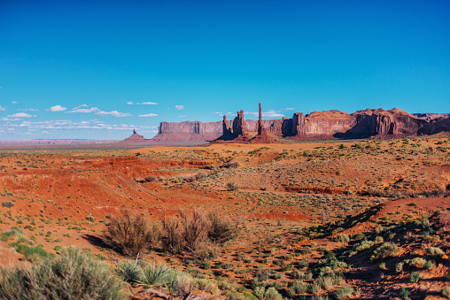 Wilderness Area「Panorama of Monument Valley in summertime」:スマホ壁紙(14)