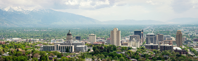 Utah「Panorama of Salt Lake City」:スマホ壁紙(5)