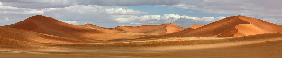 Namib-Naukluft National Park「Panorama of Dunes at Sossusvlei, Namibia」:スマホ壁紙(5)