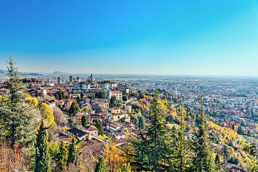 Bergamo「Panorama of the Italian city Bergamo. Top view.」:スマホ壁紙(1)