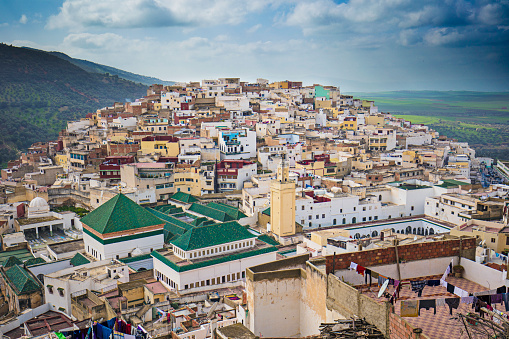 Morocco「Panorama of Moulay Idriss」:スマホ壁紙(11)