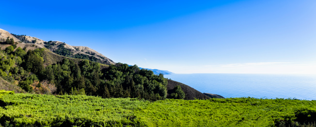 Big Sur「Panorama of coast near Big Sur」:スマホ壁紙(4)