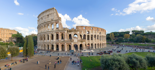 Coliseum - Rome「Panorama of the Coliseum in Rome, Italy」:スマホ壁紙(17)