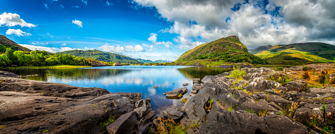 Ring of Kerry「panorama of typical landscape in Ireland」:スマホ壁紙(5)