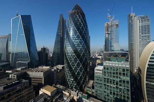 Dizzy「Panorama of the City of London Financial district」:スマホ壁紙(5)