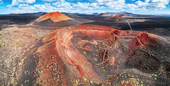Lava「Panorama of Timanfaya National Park, Lanzarote, Canary Islands」:スマホ壁紙(14)