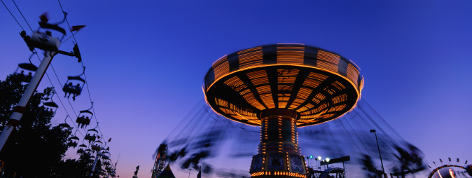 Annual Event「Panorama of Calgary Stampede Rides at Night」:スマホ壁紙(5)