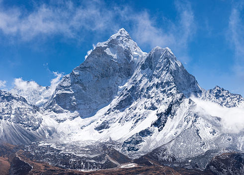 Ama Dablam「Panorama of Mount Ama Dablam in Nepal」:スマホ壁紙(4)