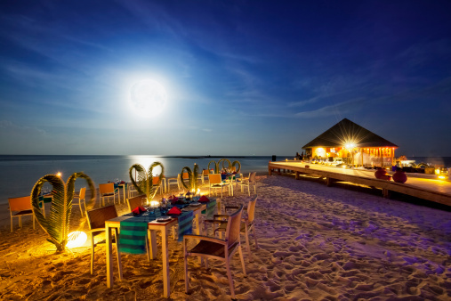 Travel Destinations「Full Moon Dinner - Vilamendhoo Island Resort Maldives」:スマホ壁紙(11)