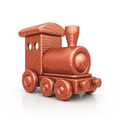 Clip Art「wooden train」:スマホ壁紙(15)