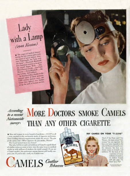More doctors smoke camels than any other cigarette, advertisement for cigarettes in 1946:ニュース(壁紙.com)