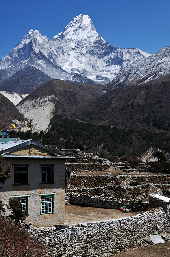 Ama Dablam「view on Ama Dablam from Pangboche」:スマホ壁紙(3)