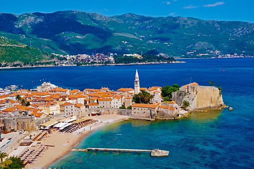 Adriatic Sea「Montenegro, old town of Budva」:スマホ壁紙(16)