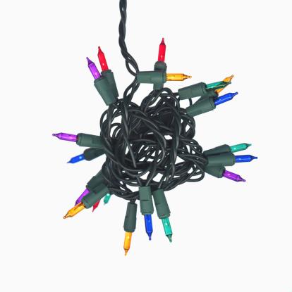 Christmas Lights「Tangled mini colored lights」:スマホ壁紙(15)