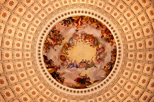 Masterpiece「US Capitol Dome in rotunda with Apotheosis of George Washington, Washington DC, USA」:スマホ壁紙(5)