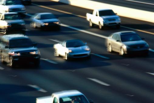 遅い「USA, Arizona, Phoenix, traffic on congested freeway, elevated view」:スマホ壁紙(7)