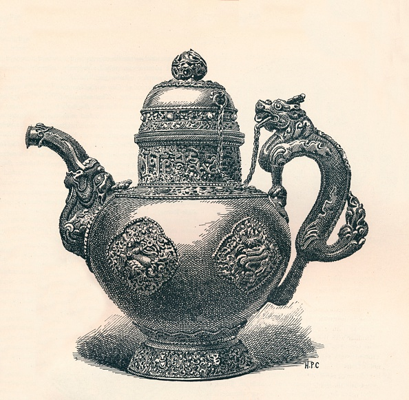 Handle「Tibetan Tea-Pot with Dragon Spout and Handle Showing Chinese Influence」:写真・画像(5)[壁紙.com]