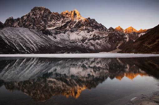Khumbu「Sunrise reflections in Gokyo Lake, Everest Base Camp via Gokyo Trek, Nepal」:スマホ壁紙(18)