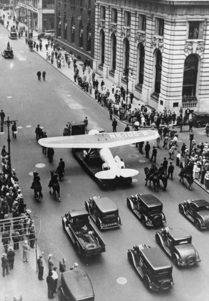 Return Of The American Aviator Wiley Post From His Flight Around The World. New York. 2Nd August 1933. Photograph.:ニュース(壁紙.com)