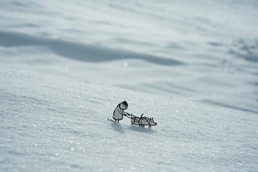 Snow sled「Dog sledding」:スマホ壁紙(4)