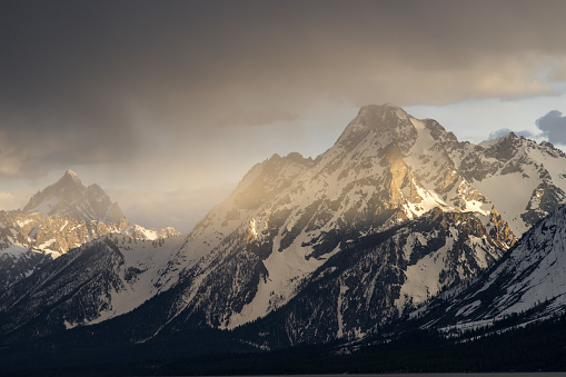 cloud「Grand Teton Mountains at Sunset, Jackson Hole, Wyoming, America, USA」:スマホ壁紙(5)