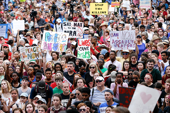 警戒「Parkland Students, Activists, Rally At Florida State Capitol For Gun Control」:写真・画像(9)[壁紙.com]