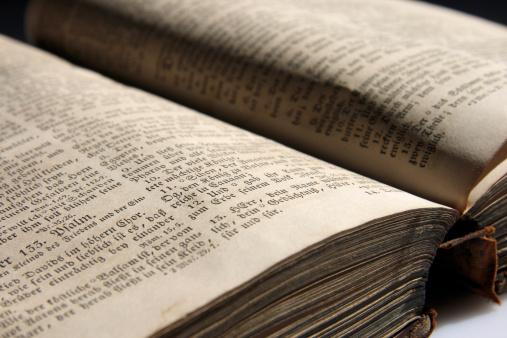 Religious Text「Old bible, close-up」:スマホ壁紙(15)
