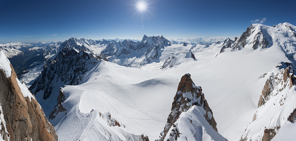 黒点「Panoramic Mont Blanc Summit From Aiguille du Midi, Chamonix, France」:スマホ壁紙(12)