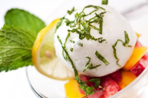Lemon Ice Cream「Italian lemon sorbet with fruit」:スマホ壁紙(10)