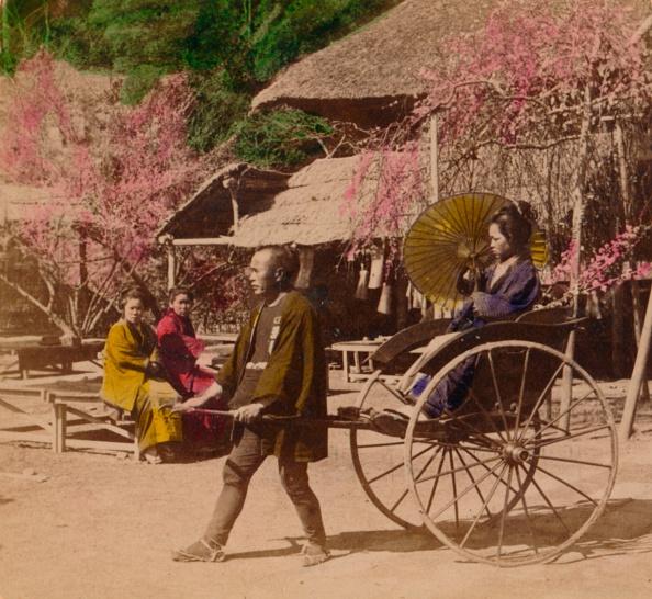 Blossom「'A Morning Ride In A Jinrikisha, Sugita, Japan', 1896」:写真・画像(5)[壁紙.com]