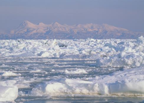 Drift Ice「Drift Ice, Shibetsu, Hokkaido, Japan」:スマホ壁紙(3)