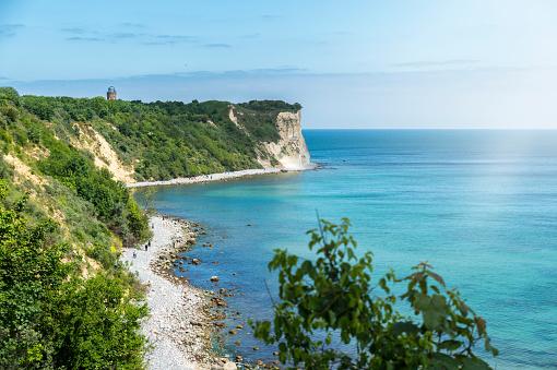 Baltic Sea「Germany, Mecklenburg-Western Pomerania, Ruegen Island, Cape Arkona with positioning tower」:スマホ壁紙(17)