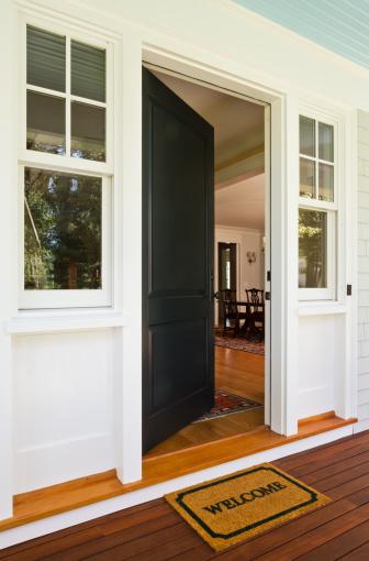 Front Door「Open front door of newly built home」:スマホ壁紙(9)