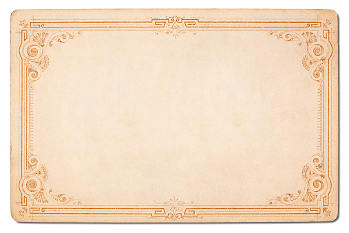 19th Century「Old card with a great Border. Isolated.」:スマホ壁紙(10)