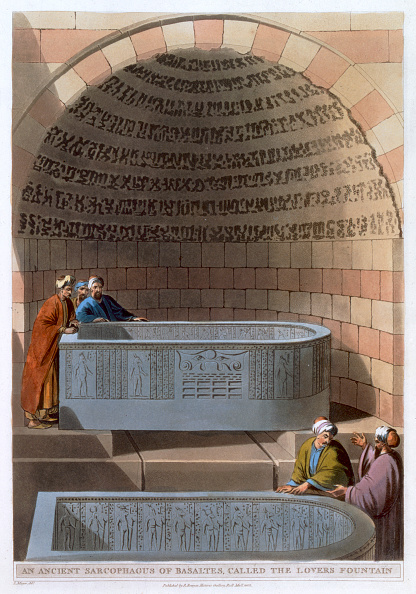 Basalt「An Ancient Sarcophagus Of Basaltes Called The Lovers Fountain' 1802」:写真・画像(2)[壁紙.com]