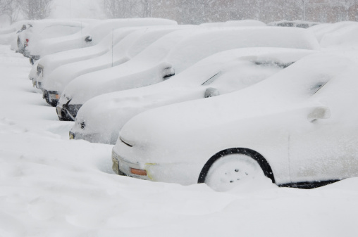 Snowdrift「Cars buried in snow」:スマホ壁紙(15)