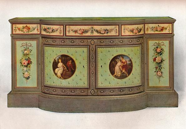 Toilet「Secretaire commode, c1785 Artist: George Brookshaw」:写真・画像(10)[壁紙.com]