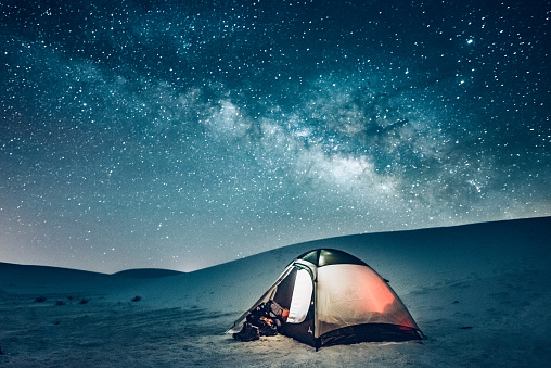 Starry sky「Backcountry Camping under the Stars」:スマホ壁紙(11)