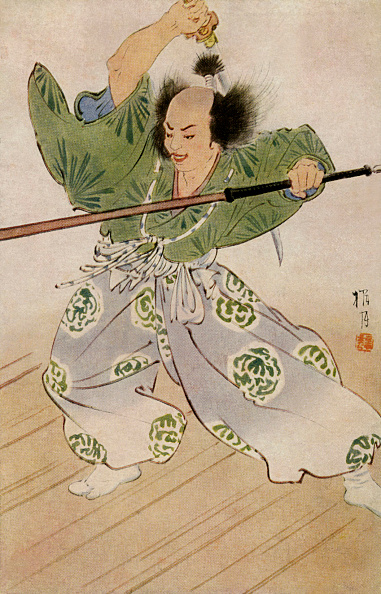 Illustration「Samurai holding sword and lance」:写真・画像(18)[壁紙.com]