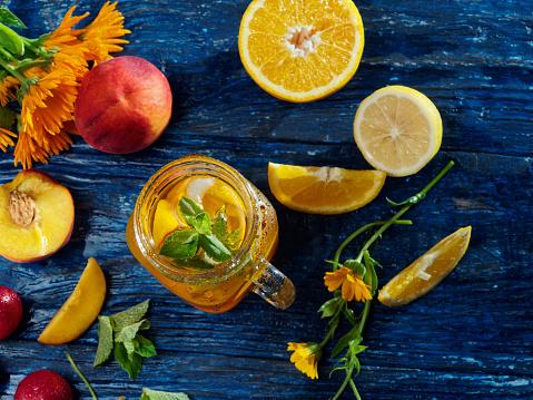 Mint Leaf - Culinary「Sunny fruit drink」:スマホ壁紙(8)