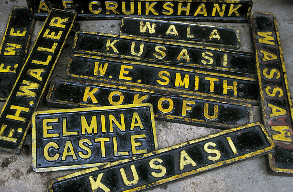 Run-Down「Locomotive Nameplates from condemned Ghana Railways locomotives at Location Works on Tuesday 25 June 1985. Commemorated in their picture are former British Governors」:写真・画像(14)[壁紙.com]