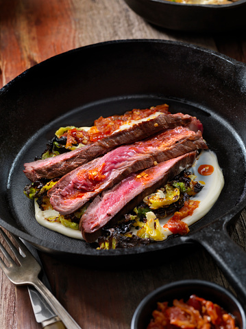 Chili Sauce「Medium Rare Flank Steak with Roasted Brussels Sprouts and Chili Oil」:スマホ壁紙(11)