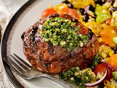 Main Course「Medium Rare Sirloin Steak with Chimichurri Sauce」:スマホ壁紙(13)