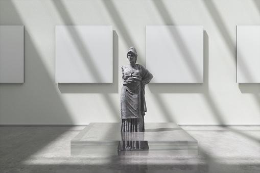 Art「Museum exhibition with Athena sculpture」:スマホ壁紙(0)