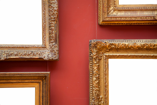 Baroque Style「Blank Picture frames on wall.」:スマホ壁紙(18)
