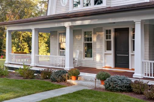 Garden Path「New home porch exterior with front door」:スマホ壁紙(11)