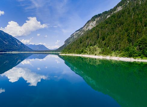 Reservoir「Sylvenstein lake ,Reflections」:スマホ壁紙(2)