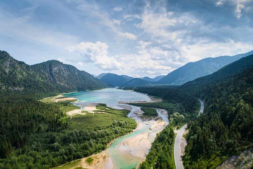 European Alps「Sylvenstein lake」:スマホ壁紙(5)