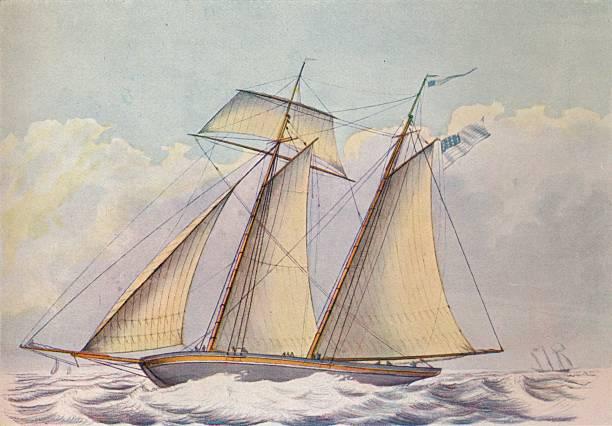 'American Topsail Schooner', 1825:ニュース(壁紙.com)